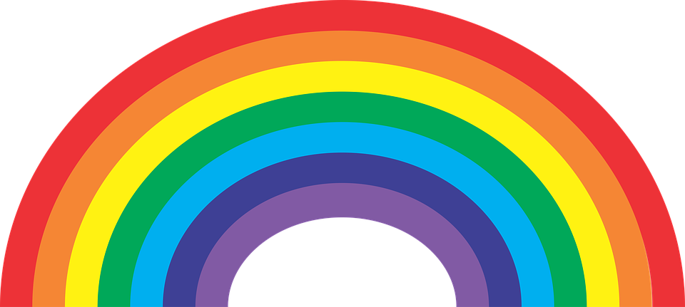 Pride rainbow: All sexual identities welcome.